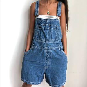 Vintage R.V.T bib denim overall shorts 22